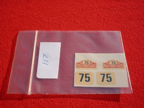 Corgi Toys 323 Citroen DS19 Monte carlo rally signs TRANSFERS / DECALS